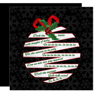 Black and White Christmas Ornament Holiday Party Card