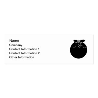Black and White Christmas Pudding. Pack Of Skinny Business Cards