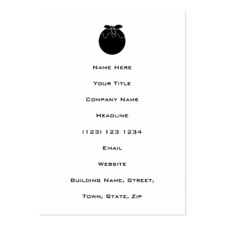 Black and White Christmas Pudding. Business Card Templates