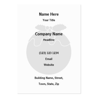 Black and White Christmas Pudding. Business Cards