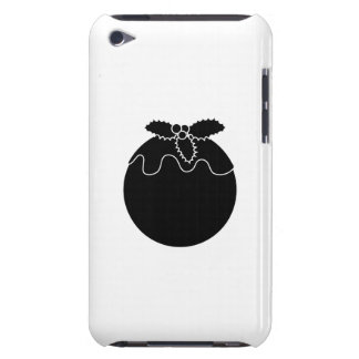 Black and White Christmas Pudding. iPod Touch Case