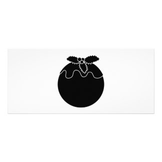 Black and White Christmas Pudding. Customized Rack Card