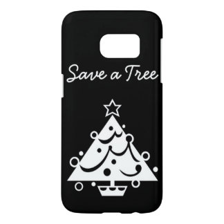 Black and White Christmas Save The Tree