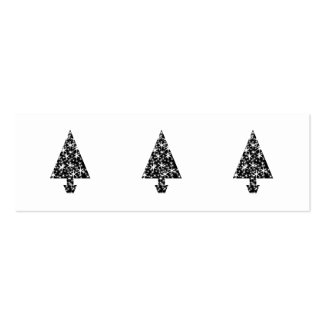 Black and White Christmas Tree Design. Business Card Template
