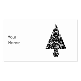 Black and White Christmas Tree Design. Business Cards