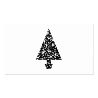 Black and White Christmas Tree Design. Business Card Templates