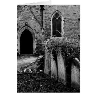 Black and White Church Card