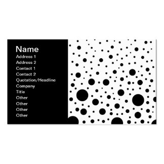 Black and White Circle Design Business Card Templates