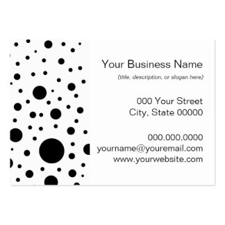 Black and White Circle Design Business Card Template