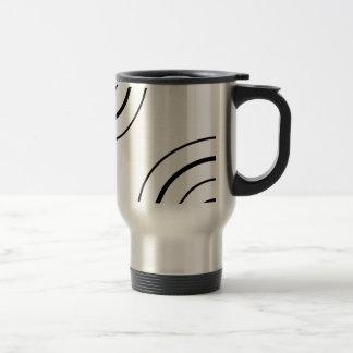 Black and White Circle Design | Minimalist Stainless Steel Travel Mug