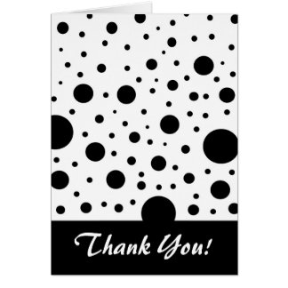 Black and White Circle Design Note Card