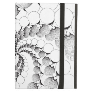 Black and White Circle Fractal Case Cover For iPad Air