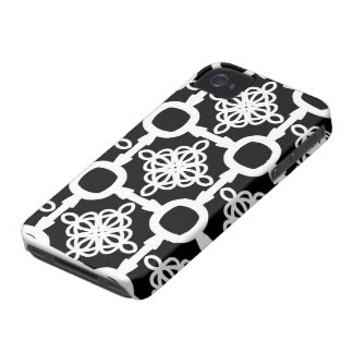 Black and White Circle  Geometric iPhone 4 Covers