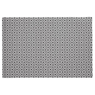 Black and white circle pattern doormat
