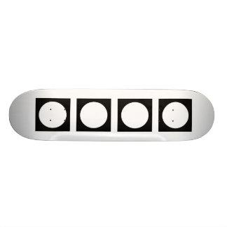 Black and White Circle, Simple Geometric Design. Custom Skateboard