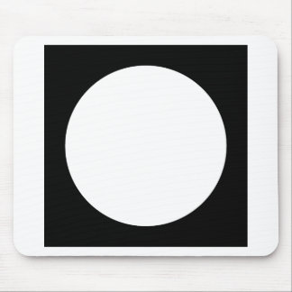 Black and White Circle, Simple Geometric Design. Mouse Pad
