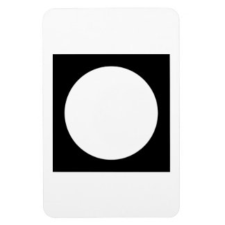 Black and White Circle, Simple Geometric Design. Magnets