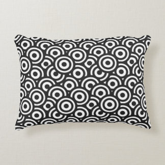 Black and White Circles Accent Cushion