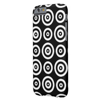 Black and white circles barely there iPhone 6 case