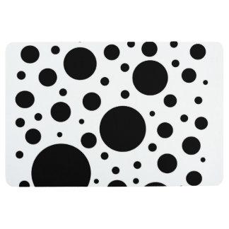 Black and White Circles Floor Mat