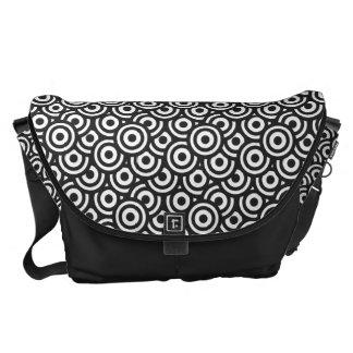 Black and White Circles Messenger Bag