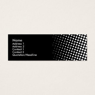Black and White Circles Mini Business Card