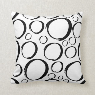 Black and White Circles Pillow