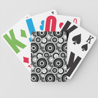 Black and White Circles Playing Cards