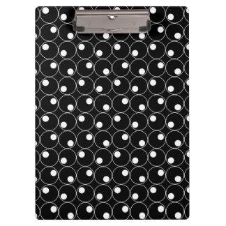 Black and White Circles, Polka Dots Clipboards