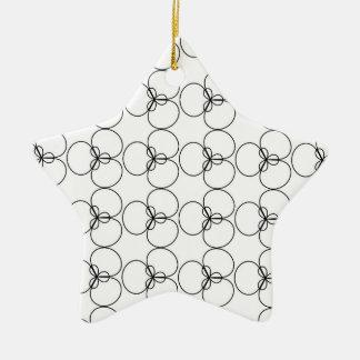 Black and White Circles, Rings Ceramic Star Decoration