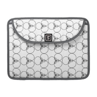 Black and White Circles, Rings Sleeve For MacBook Pro