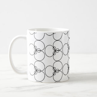 Black and White Circles, Rings Coffee Mugs