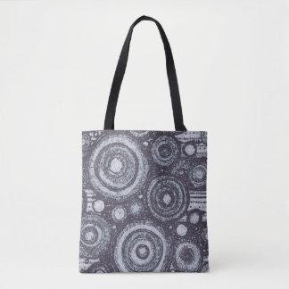 Black and White Circles Tote Bag