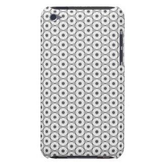 Black and White Circular Pattern iPod Case-Mate Case