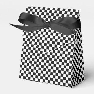 Black And White Classic Checkerboard Favour Box