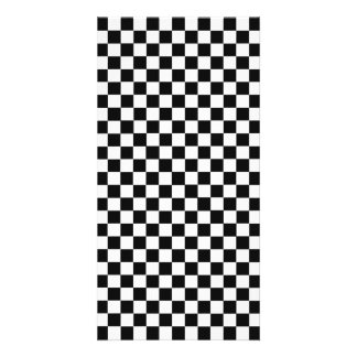 Black And White Classic Checkerboard Photo Greeting Card
