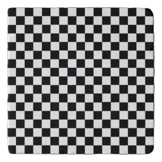 Black And White Classic Checkerboard Trivet