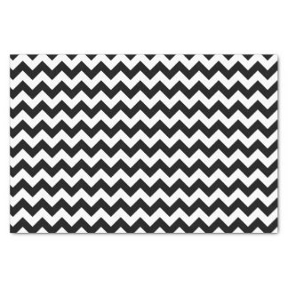Black and White Classic Chevron Traditional Design Tissue Paper