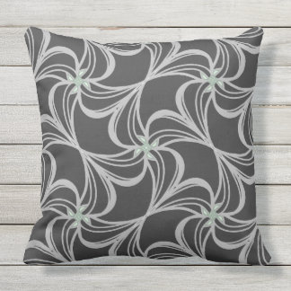Black and white classic elegance outdoor cushion