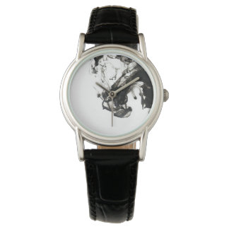 Black and White Classic Leather Watch
