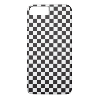 Black And White Classic Retro Checkered Pattern iPhone 8 Plus/7 Plus Case