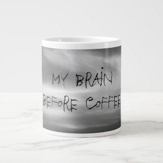 Black and White Clouds My Brain Before Coffee Giant Coffee Mug