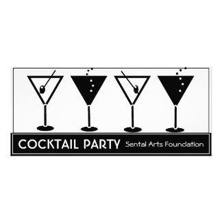 Black and White Cocktail Party Invitation Customised Rack Card
