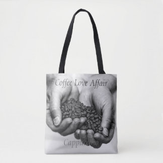 Black and White Coffee Beans Tote Bag