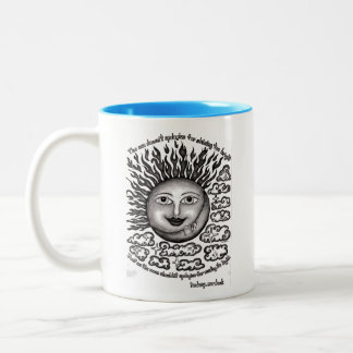 black and white coffee mug with quote