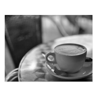Black and White Coffee Postcard