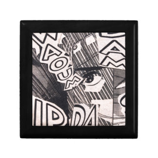 Black and White Collage Comics Pattern Gift Box