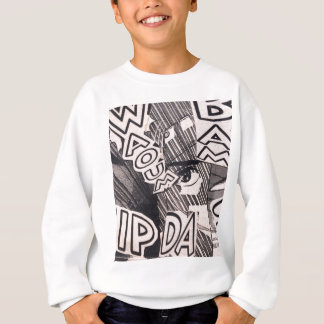 Black and White Collage Comics Pattern Sweatshirt