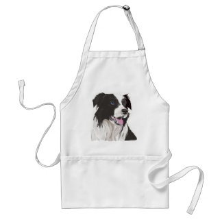 black and white collie blue eyes standard apron