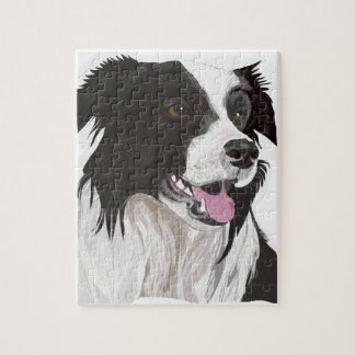 black and white collie brown eyes puzzles